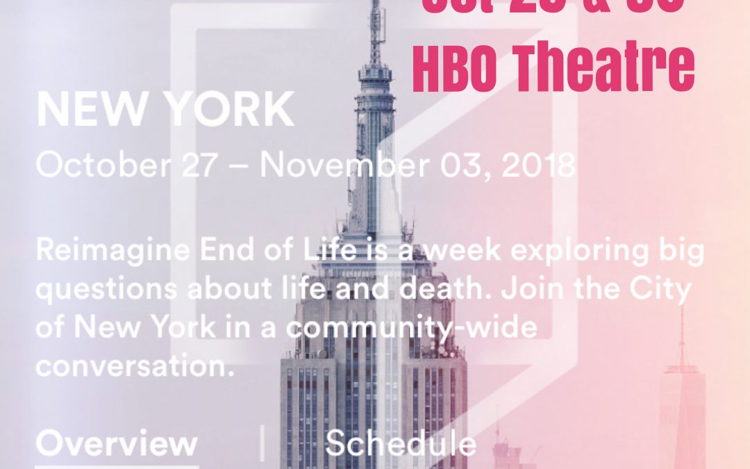 Join me at the hbo theatre in NYC Oct 29 & 30th